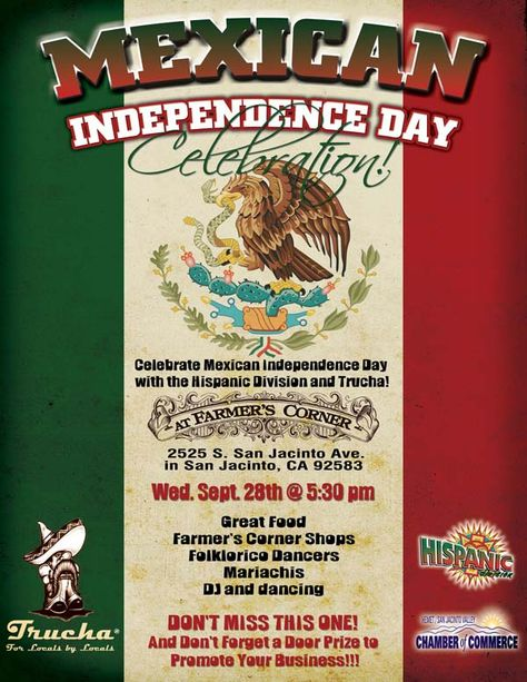 Mexican Independence Day flyer Graphic Design Portfolio - independence day flyer