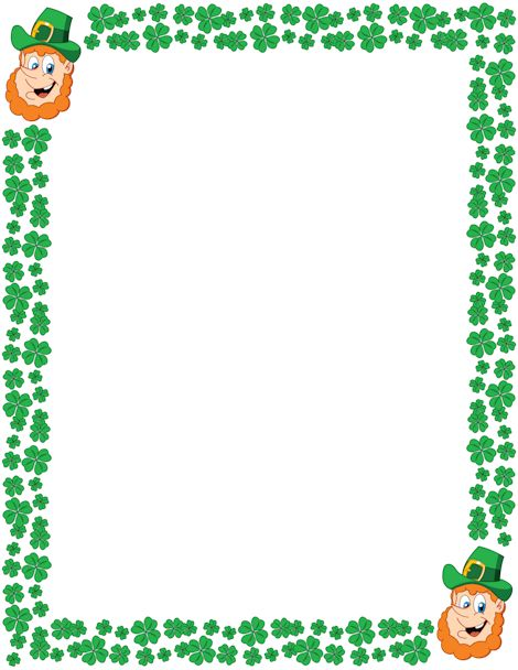Printable leprechaun border for St. Patrick's Day. Free GIF, JPG, PDF ...