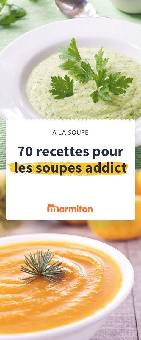 Faites le plein de soupes pour vous réchauffer et manger plein de légumes avec notre sélection de recettes Marmiton  #marmiton #soupe #legume #recette