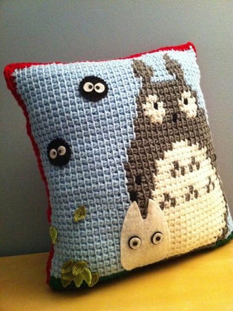 Schönes Kissen Tunesisch Häkeln Für Kinderzimmer Crochet