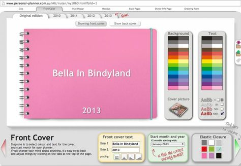 Bella in Bindyland: New Years Goals & a GIVE AWAY! Win a FREE planner!