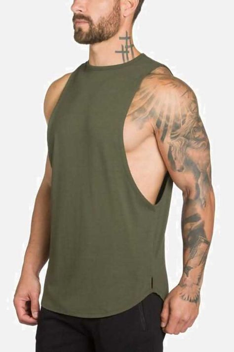 Gyms Stringer Clothing Bodybuilding Tank Top Men Fitness Singlet Sleeveless Shirt Solid Cotton Muscle Vest Undershirt Color black Size M Oversized Fashion, Stringer Tank Top, Bodybuilding, Body Building Men, Gym Tank Tops, Moda Fitness, Fitness Men, Summer Fitness, Workout Fitness