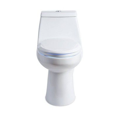Lumawarm Heated Nightlight Elongated Toilet Seat White Brondell