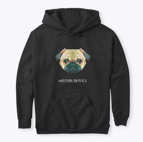 """There is a link in the bog post where you can buy this gorgeous hoodie. I've always loved pugs, but I've never found a nice and comfortable hoodie with them and I was sure there are other people looking for one so I thought """"Why not create it for them?"""" And this is how this beauty appeared."""