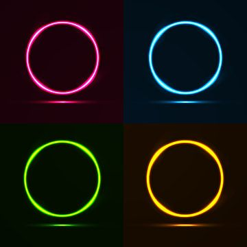 Colorful Neon Circle Frame Neon Frame Png And Vector With Transparent Background For Free Download In 2021 Frame Border Design Frames Design Graphic Circle Frames