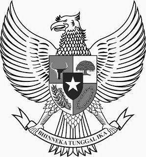 Logo Lambang Garuda Hitam Putih Bw Gambar Burung Gambar Lambang Negara