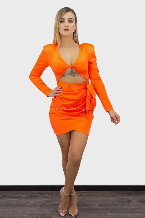 Darcey Scrunch Cutout Belted Long Sleeve Mini Dress
