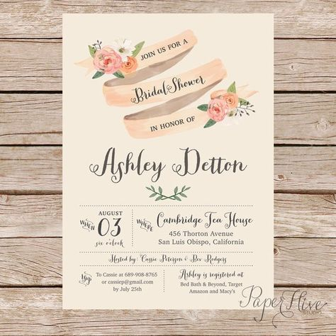 9ea4501c969f Vintage Bridal Shower Invitations and Thank You card set   rustic bridal  shower invite   printable f