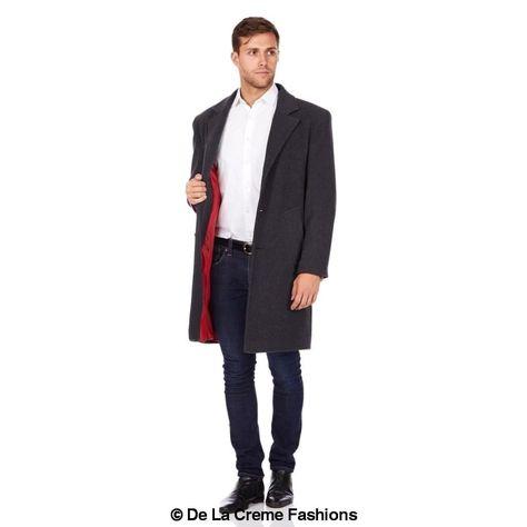 <transcy>De La Creme MAN - Pardessus de sécurité formel en laine et cachemire</transcy>