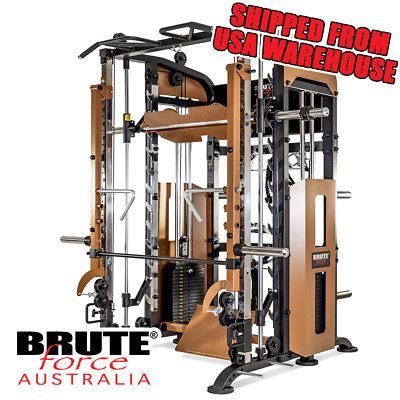 Ad Ebay Bruteforce 360ptx Functional Trainer Smith Machine Power Rack Pulley Sys Power Rack No Equipment Workout At Home Gym