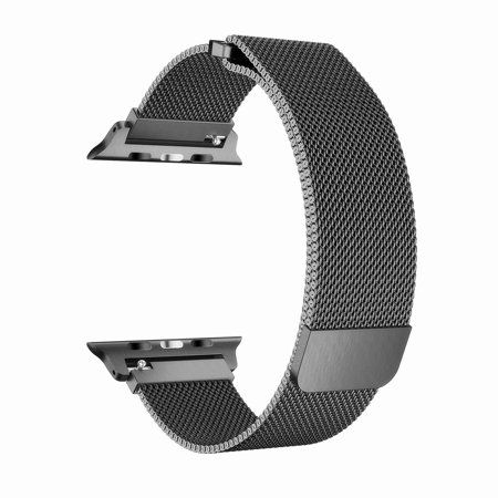 Galaxy Wireless Usa Apple Watch Band 44mm Series 5 4 Stainless Steel Mesh Milanese Loop With Clear Hard Case Black Walmart Com 38mm Apple Watch Band Apple Watch Bands Apple Watch Series