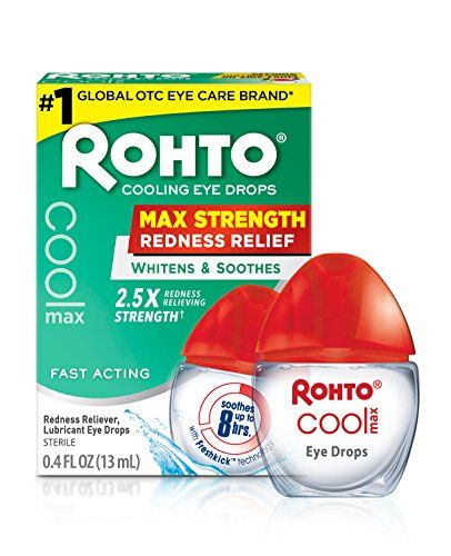 Rohto Cool Max Maximum Redness Relief Cooling Eye Drops 0 4 Ounce