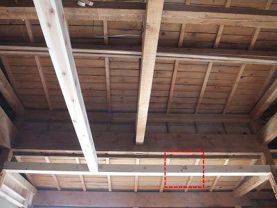 木陰手探りdiy 天井柱における大物柱2本目乗せます 天井 柱 大物