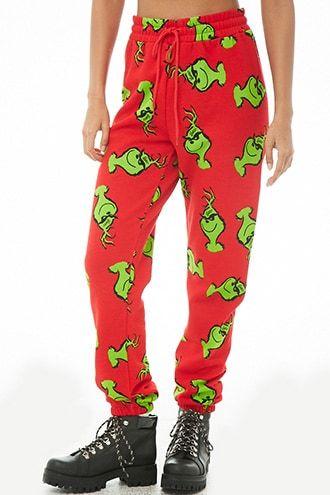 Grinch Christmas Edition Red Ladies Camiset Vest Short PJs set Nightwear Womens