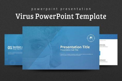 Virus PowerPoint Template Presentations Pinterest Template