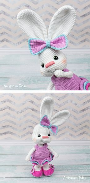 Gentleman bunny amigurumi pattern - Amigurumi Today | 587x290