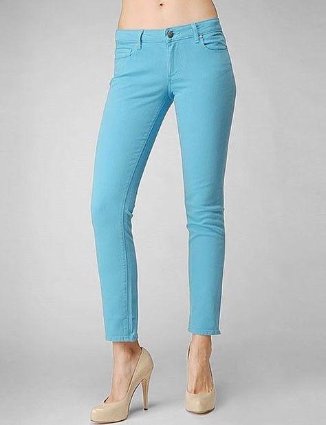 Paige Turquoise Peg Skinny Jeans Size: 24 #Paige #SlimSkinny