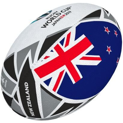 Gilbert Rugby World Cup 2019 New Zealand Flag Rugby Ball Front Rugby World Cup New Zealand Flag Rugby