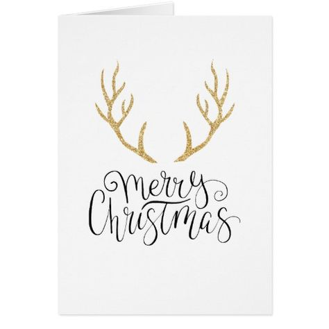 Rudolph's gold Antlers | Zazzle.com