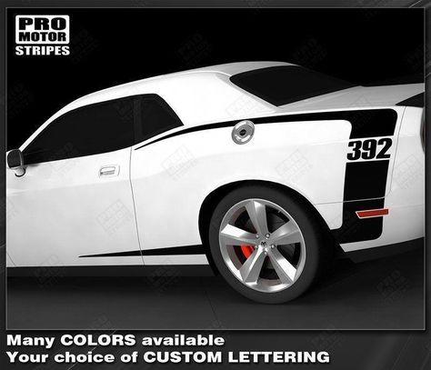 Dodge Challenger 2008-2018 Rear Quarter Side C-Stripes