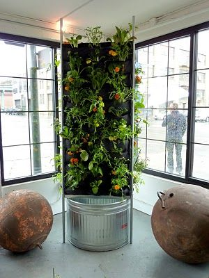 Aquaponic Vertical Vegetable Garden