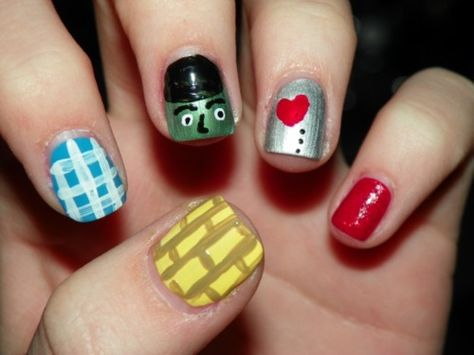 Wizard of Oz inspired nails. Looks easy enough!