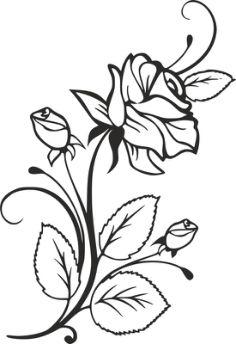 Flower stencil Vector Design Pattern