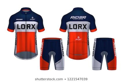 Download Cycling Jerseys Mockup T Shirt Sport Design Template Uniform For Bicycle Apparel Sports Jersey Sports Jersey