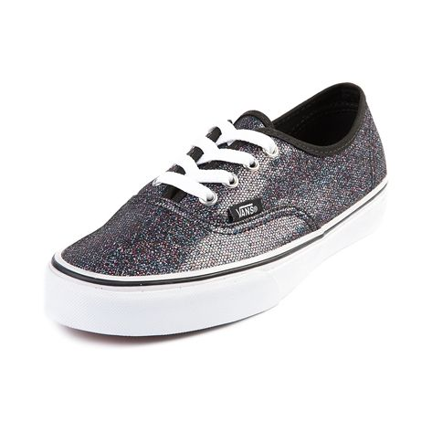 vans shoes black glitter