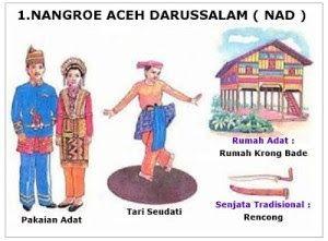34 Provinsi Rumah Adat Pakaian Tarian Tradisional Senjata Tradisional Lagu Bahasa Suku Julukan Di Indonesia Banda Aceh Pakaian Tari Indonesia