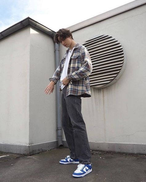 Streetwear Outfit Menswear Fashion Inspiration Indie Fashion Men, Fashion Mode, Streetwear Fashion, Trendy Mens Fashion, Street Fashion Boys, Mens College Fashion, Male Streetwear, Korean Fashion Men, Thrift Fashion