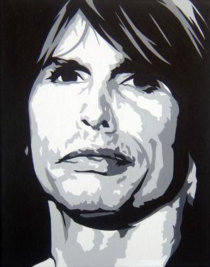"""Saatchi+Online+Artist+Michael+James+Toomy;+Painting,+""""Steven+Tyler""""+#art"""