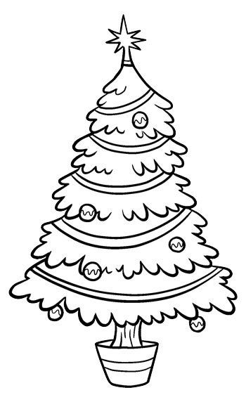 Christmas Tree Clip Art Christmas Tree Coloring Page Christmas Tree Template Tree Coloring Page