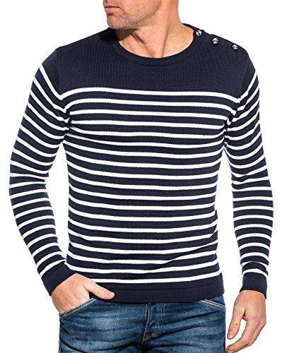 BLZ Jeans – Pull marinière Bleu Navy à Rayures | Pull