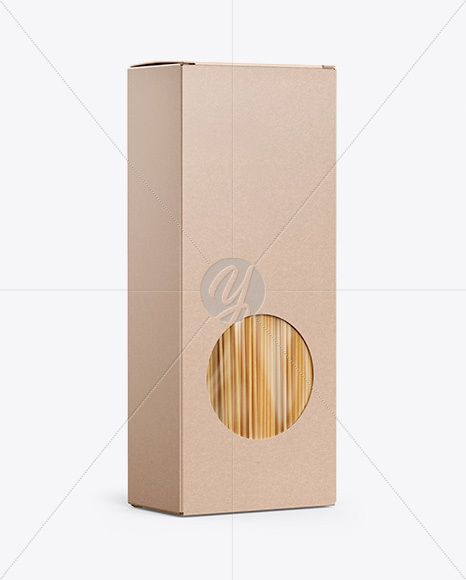 Download Kraft Box With Pasta Mockup Half Side View In Box Mockups On Yellow Images Object Mockups Kraft Boxes Mockup Free Psd Box Mockup