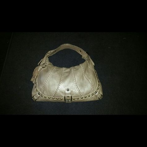 84f4b0abb49 Isabella Fiore Gold Audra Whipflash Hobo Purse Bag AUTHENTIC Isabella Fiore