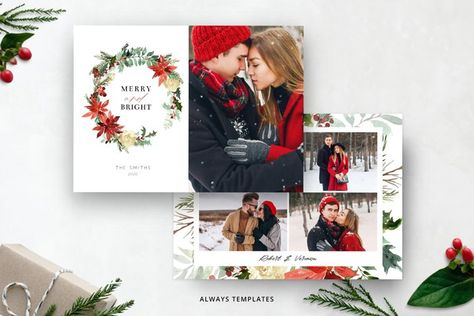 Christmas Card Template CC093 (934251) | Card and Invites | Design Bundles
