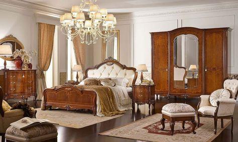 camere-classiche-con-cè-un-accessori-camera-da-letto-lussuosa ... - Tende Classiche Per Camera Da Letto