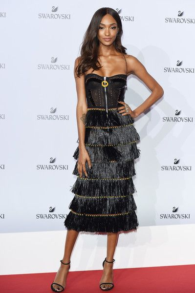 Jourdan Dunn attends the Swarovski Crystal Wonderland Party.