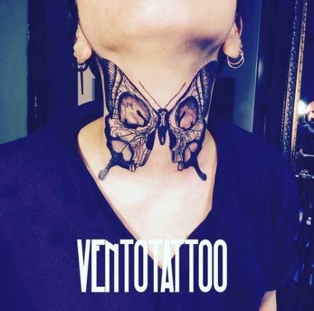 Tattoo Butterfly Neck 50 Super Ideas Tattoo Butterfly Neck Tattoo Throat Tattoo