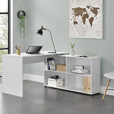En Casa Schreibtisch Burotisch Eckschreibtisch Winkelkombination Regal Pc Tisch Eckschreibtisch Burotisch Schreibtischideen