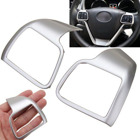 2x Chrome Silver Interior Molding Garnish Cover For 2014-2017 Toyota Highlander