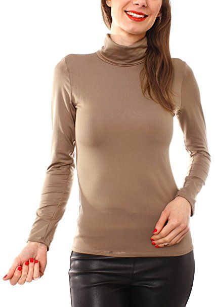 DAMEN NIET SWEATSHIRT Pullover Stricken Stehkragen Shirts