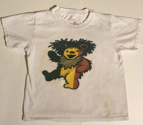 Kids Vintage Grateful Dead Dancing Bear Tshirt In White Size Small