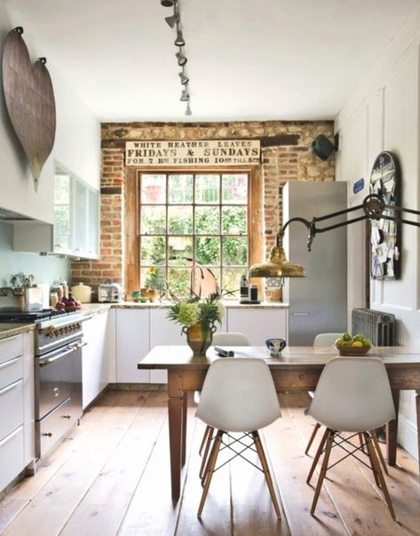 Style Cuisine Campagne Chic Attrayant Idee Deco Cuisine Avec Table