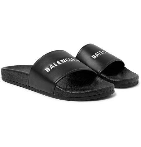 Leather slides, Leather slide sandals