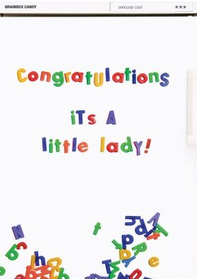 A Brainbox Candy Card Personalised Card Scribble Inside Order 2 Or More Cards For Free Uk Delivery Overseas Del New Baby Cards Baby Cards New Baby Products