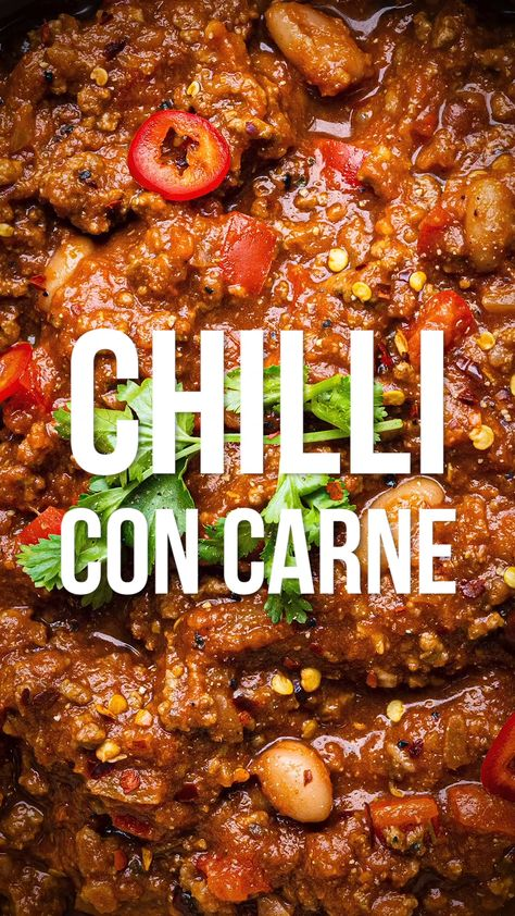 This easy Chilli Con Carne packs the flavour and is a true crowd pleaser. Cook a batch on your stove, slow cooker or Instant Pot – it tastes even better the next day, freezes brilliantly and is so versatile!  Slimming World Syn Free   Weight Watchers 8 SmartPoints