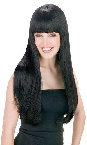 Ebay Sponsored Cher Womens Pop Star Long Straight Black Wig