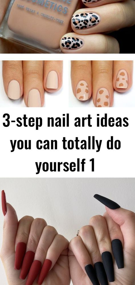 3-step nail art ideas you can totally do yourself 1